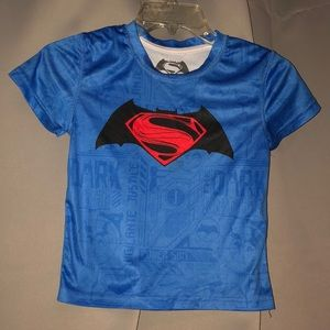 Superman swim/dry fit shirt